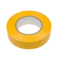 Изолента ПВХ 19 мм х 20 м желтая SAFELINE