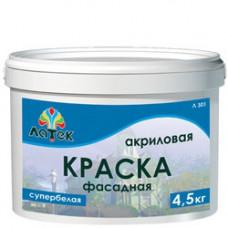 Краска фасадная супер белая 4,5 кг ЛАТЕК К3607