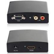Конвертер вход HDMI-выход VGA audio+R/L c питанием DAYTON 10-0001