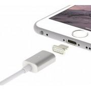 USB кабель для iPhone 5/6/7 магнитный со съемным штекером белый 1м REXANT 18-0009-9