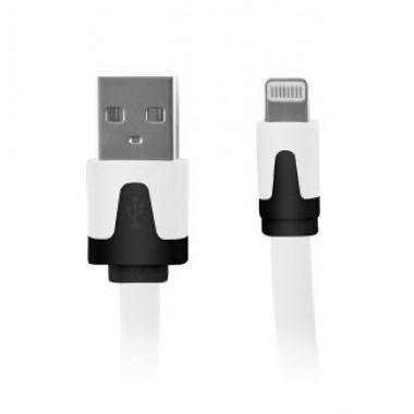 USB кабель белый для iPhone 5/6/7 моделей slim шнур 1м REXANT 18-1974-1-9