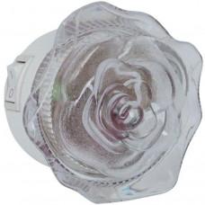 Ночник роза желтый без выключателя Uniel R&C 808