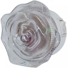 Ночник роза зеленый без выключателя Uniel R&C 808