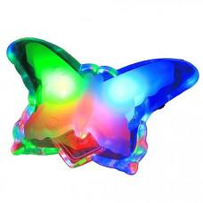 Ночник бабочка разноцветный без выключателя Uniel R&C 806