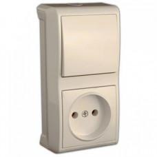 Блок выключатель+розетка VIKO 90681086