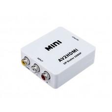 Видеоконвертер вход AV (RCA) - выход HDMI Full HD 1080P Video Converter