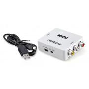 Видеоконвертер выход HDMI - вход AV (RCA) Full HD 1080P Video Converter