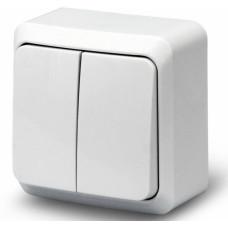 Выключатель накладной двухклавишный БелТИЗ А5 16-134