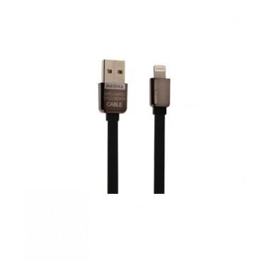 USB дата-кабель плоский для iPhone 5/6 черный 1м Remax King Kong Safe&Speed RC-015i