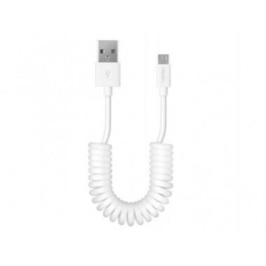 USB кабель microUSB шнур витой 1,5 м белый REXANT 18-4301