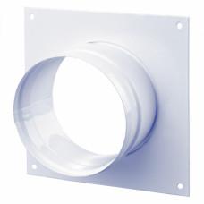 Диффузор металлический для гофрканала  D-80 мм белый VENTS