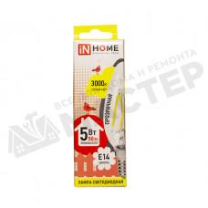 Лампа LED-СВЕЧА deco 5 Вт Е14 3000К IN HOME 4690612007564
