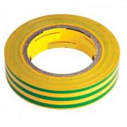 Изолента ПВХ 19 мм х 20 м желто-зеленая SAFELINE