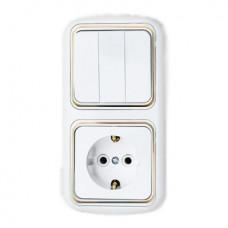 Блок трехклавишный выключатель+розетка BYLECTRICA В-РЦ-537