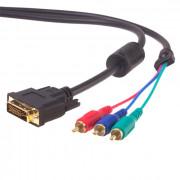 Переходник штекер DVI - гнездо HDMI + 3 RCA REXANT GOLD 17-6833