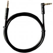 Аудио кабель AUX 3.5мм угловой 1м REXANT 18-1120