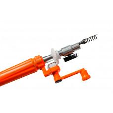 Устройство прочистное ручка с крутящимся механизмом, трос 6 мм х 4,6 м Домочист УПР6-5