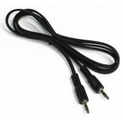 Аудио кабель AUX 3.5мм силикон 1м черный REXANT 18-4260