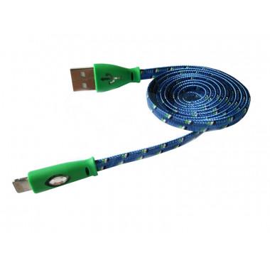 USB кабель светящийся iPhone 5/5S/5C REXANT 18-4259