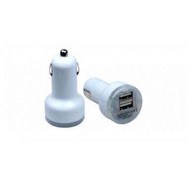 Адаптер в прикуриватель USB Dual port 2.1A+1A белый 3-842 WH