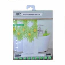 Штора для ванной 200*200 мм IDDIS Green blossom SCID 093P