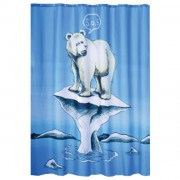 Штора для ванной 200*180 мм IDDIS Polar bear SCID 180P