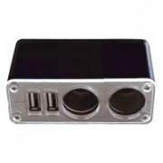 Разветвитель автоприкуривателя 2гн USB 5V 1000mA REXANT 16-0225