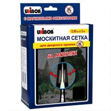 Маскитная сетка для дверей на магнитах 0,95 м * 2 м UNIBOB 62982