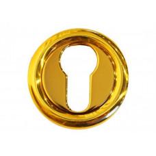 Накладка золотая под цилиндр для замка LINEA CALI-102-OLV