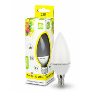 Лампа светодиодная LED-свеча Е14 3000 К 400 Лм 5.0 Вт ASD Standard 4690612002200