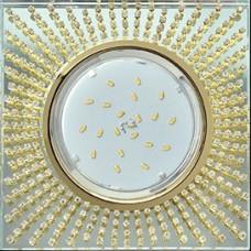 Светильникик квадратный H4 Glass GX53 Ecola FG53SGECB