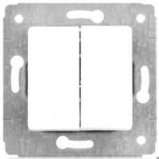 Выключатель двухклавишный белый Legrand 773658