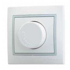 Светорегулятор белый серая рамка Lezard 701-0215-115