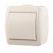 Выключатель накладной белый Lezard 710-0200100