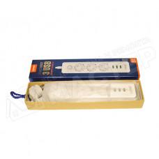 Фильтр сетевой 3 розетки 3 выхода USB 250V/10A белый 1.8м LDNIO SE3330