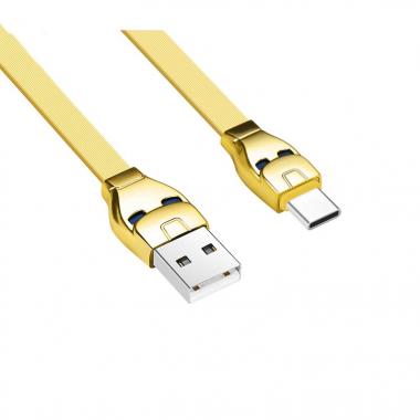 USB кабель золотой 1.2 м для Type-C Hoco U14