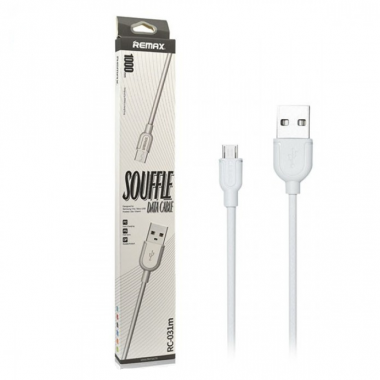 USB кабель micro 1 м белый REMAX Souffle RC-031m