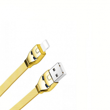USB кабель золотой 1.2 м для iPhone 8 pin Hoco U14