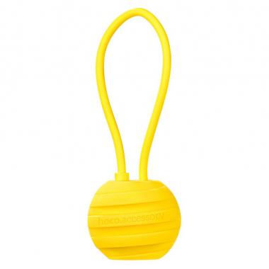 USB кабель желтый 18 см для microUSB Hoco U3