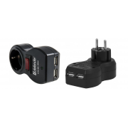 Фильтр сетевой 2 USB выключатель DEFENDER