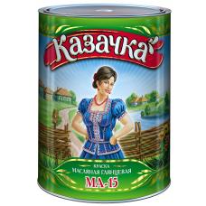 Масляная краска зеленая 0,9 кг Казачка МА-15 05440