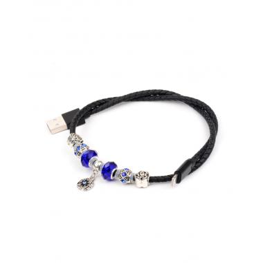 USB кабель черный 0.5 м для iPhone 8 pin Hoco Pandora U7