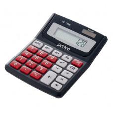 Калькулятор карманный 8-разрядный черный Perfeo DC-128B