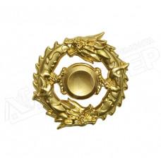 Спиннер металличекий круглый золотой Дракон