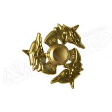 Спиннер металличекий золотой Волк