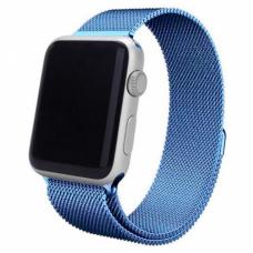 Ремешок металлический голубой для Apple Watch 42/44 мм