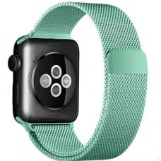 Ремешок металлический зеленый для Apple Watch 42/44 мм
