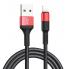 USB дата-кабель lightning черно-красный 100 см Hoco X26