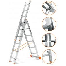Лестница трехсекционная Эйфель Гранит 3х6