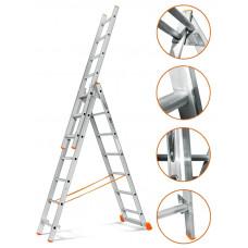 Лестница трехсекционная Эйфель Гранит 3х7
